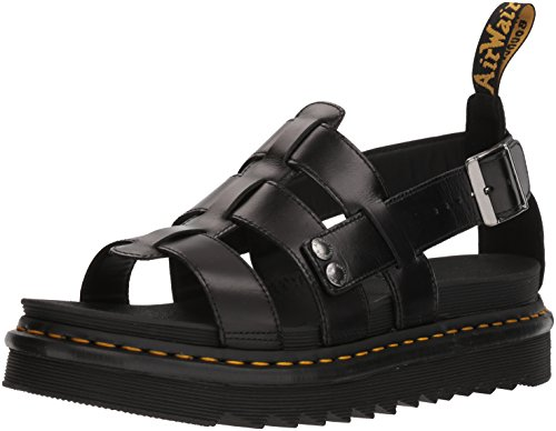 Dr. Martens Terry Black Brando Sandal, 8 Medium UK (US Women's 10, US Mens 9 US) ()