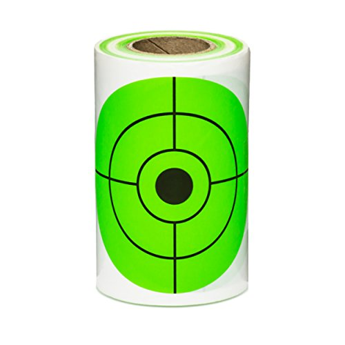 125 Mega-Pack 3-Inch Target Stickers | BRIGHT GREEN plinker Self Adhesive Targets for Shooting - Gun and Rifle Targets