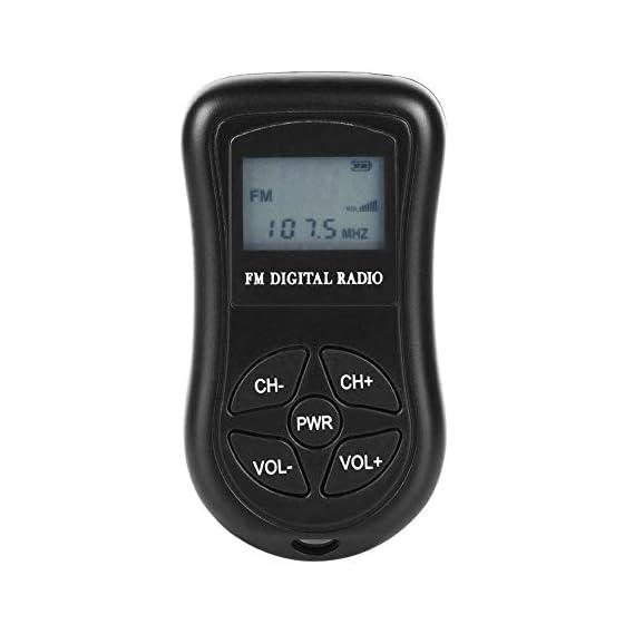 Tooarts KDKA-600 Mini FM Stereo Radio Portable Digital DSP Receiver with 1.15 Inch LCD Display Screen Lanyard 60-108MHz