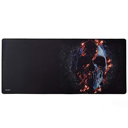 JIALONG XXL Speed Gaming Mauspad Office Mousepad Schreibtischunterlage Groß Tischunterlage Large Size 900x400x3mm Perfekte Präzision und Geschwindigkeit Schwarz