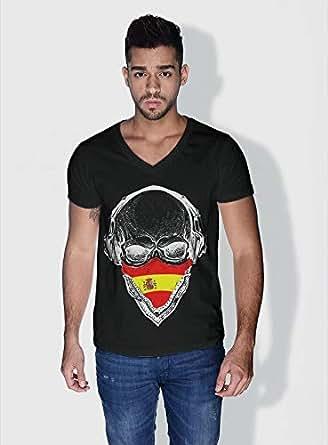 Creo Spain Skull T-Shirts For Men - Xl, Black