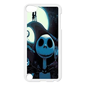 Customized The Nightmare Before Christmas Unique Black Best Protective Hard Plastic cover ,TPU Phone case for ipod 5,white