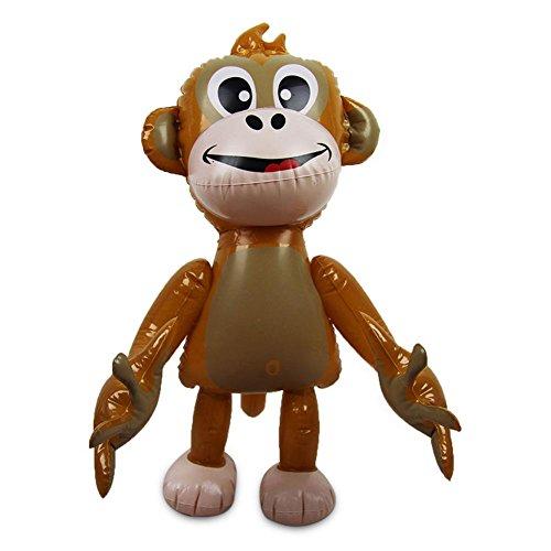 2 x HC-Handel 913426 Aufblasbarer Affe Luftaffe Aufblastier Aufblasaffe Wasserspielzeug 50 cm