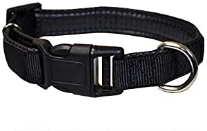 Downtown Pet Supply Plastic Quick Release Dog and Puppy Collar (Black, Large)