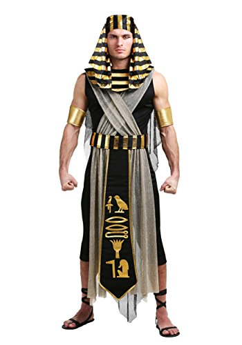 Men's All Powerful Pharaoh Costume Egyptian Pharaoh Costume X-Large Black]()