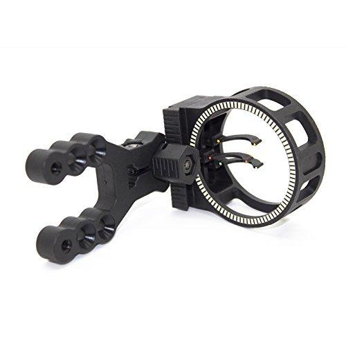 SAS 3-Pin .029 Fiber Bow Sight Black by Southland Archery Supply