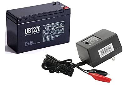 Universal Power Group 12V 7AH Scooter Battery replaces 7ah Haijiu 6-DFM-7, 6 DFM 7 MK ES7-12 WITH CHARGER
