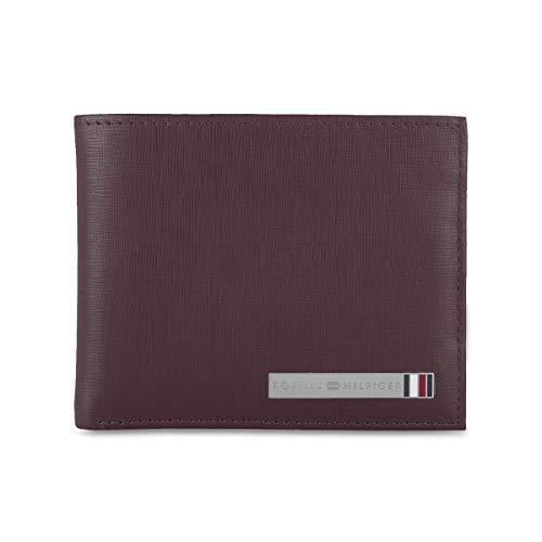 Tommy Hilfiger Burgundy Leather Men's Wallet (8903496150506)