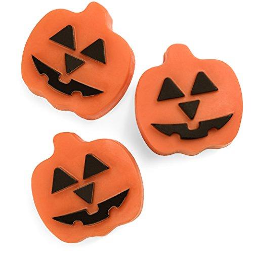 Halloween Pumpkin Soap 3 Pack, Pumpkin Spice Scented Ultra Lush Gift Set, Jack O Lantern Premium Soaps, Party Favors Thanksgiving Autumn Harvest Trick or Treat