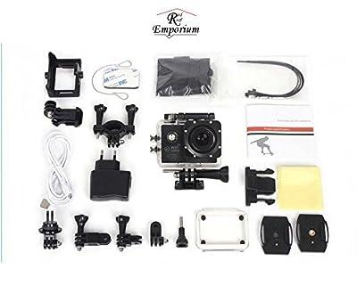 Wifi Waterproof Action Camera Sj7000 Sport Extreme Helmet Cam Recorder Marine Diving 2.0 Ltps LED 170 Degree Wide Lens - Black
