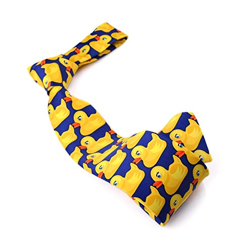 SHIPITNOW Corbata de Patos Azul y Amarillo - Corbata Original ...
