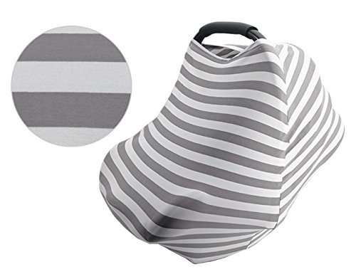 Nursing Cover Nursing Cover for Breastfeeding Muslin Nursing Cover Car Seat Baby Cover Stretchy Multi-Use Canopy