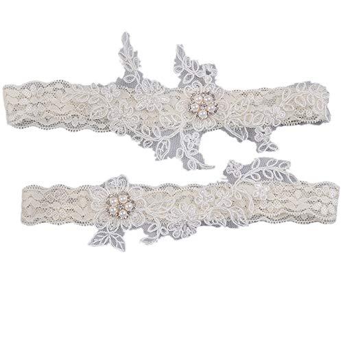 Women Bridal Garter for Wedding Party Garter Set Ivory Garters for Brides 2018