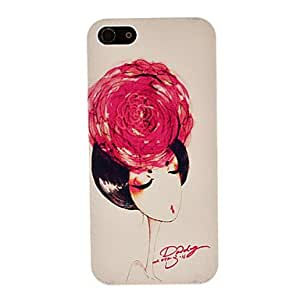GHK - Color Drawing of Elegant Lady Pattern PC Hard Case for iPhone 5/5S