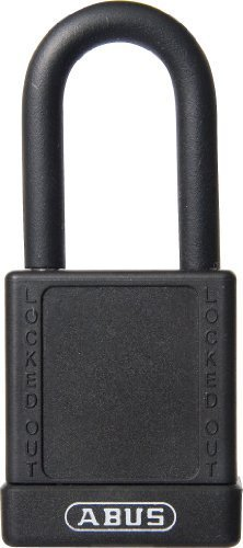 ABUS 74/40 KA Safety Lockout Non-Conductive Keyed Alike Padlock with 1-1/2-Inch Shackle, Black by ABUS