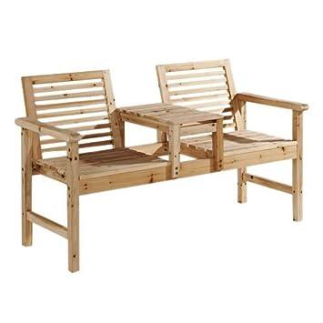 UK Stock] CRAVOG de madera banco de jardín de dos plazas compañero ...