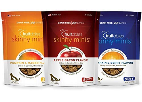 Fruitables 5 Ounce Skinny Minis Dog Treat Variety Pack