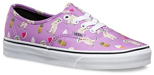 Vans AUTHENTIC (POOL VIBES) mens skateboarding-shoes VN-04MLJPE_4 - African Violet/True White