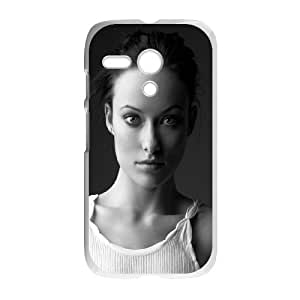 Celebrities Olivia Wilde In Black And White Motorola G Cell Phone Case White phone component RT_139401