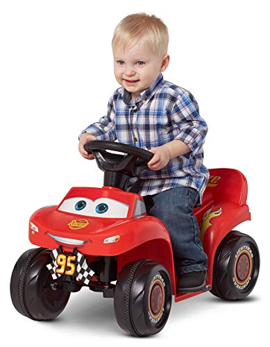 Kid Trax. 6V Cars 3 Lightning McQueen Quad, Red (Styles May Vary) (L x W x H) 26.40 x 17.00 x 14.60 -