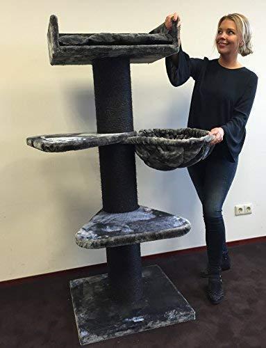 Cat Árbol Royalty Plus Antracite Blackline postes de sisal 20 cmØ Rascador de Gato Arañar Poste
