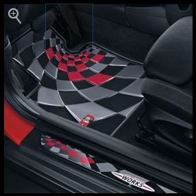 MINI John Cooper Works Pro All Weather Floor Mats - Front fits 2014-2015 hard - Cooper Mini Works John