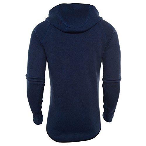 NIKE Mens Sportswear Tech Fleece Windrunner Hooded Sweatshirt Obsidian Blue/Black ADclVwmJR