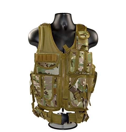 Sniper Cross Draw Tactical Vest Earthy Yellow, 600D Polyster Oxford