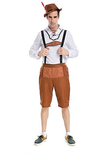 [PINSE Plus Size German Beer Men Oktoberfest Man's Adult Halloween Costumes (XXL)] (Bavarian Guy Adult Plus Costumes)