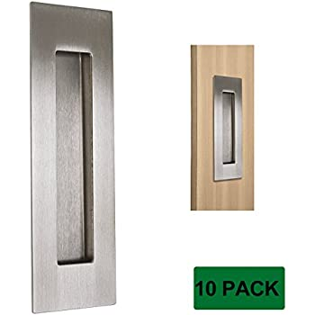 Probrico 6 Quot Brushed Nickel Rectangular Flush Pull 10 Pack