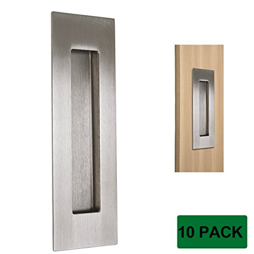 stainless steel flush pull  recessed cabinet sliding door