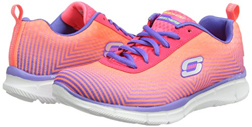 skechers EQUALIZER - EXPECT MIRACLES - Zapatillas de deporte para mujer Rosa (Pink/Purple Pkpr)