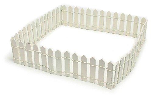 Radkell Miniature Dollhouse Picket White Fence Fairy Faerie Hobbit Gnome Garden