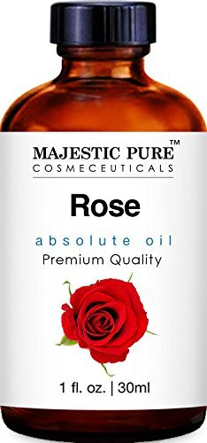 Majestic Pure Rose Oil Absolute, Therapeutic Grade, Premium Quality Rose Oil 1 fl Oz