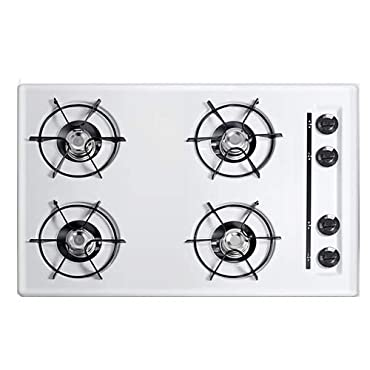 Summit WNL05P 30 in. Gas Cooktop in White with 4 Burners