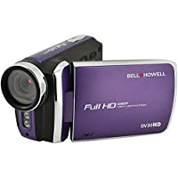 BELL+HOWELL DV30HD-P 20.0 Megapixel 1080p DV30HD Fun-Flix Slim Camcorder (Purple) - ONE YEAR