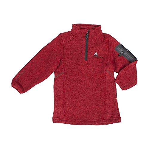 Peak Mountain - Fleece-Sweatshirt Junge ECYPA38-rot-8 Jahre