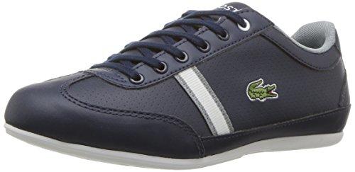 Lacoste Unisex Misano Sneaker, Navy/White, 6.5 Medium US Big Kid (Lacoste For Kids Boys Shoes)