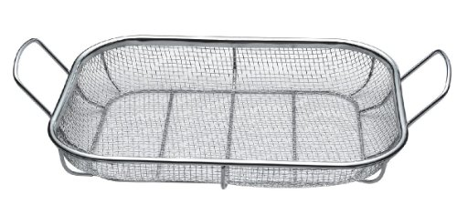 - THE BEST QUALITY BBQ Mesh Grill Baskets, BBQ Roasting Pans, Combination Grill Smokers, Great for Grilling Seafood, Ribs, Steaks, Burgers, Chicken, and Veggies, EZ Clean, and Dishwasher Safe