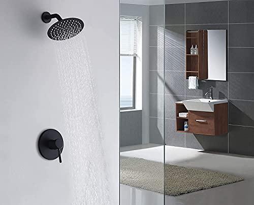 Sumerain Black Shower Faucet, Matte Black Shower Fixtures Shower Mixer, Rough-in Valve Included
