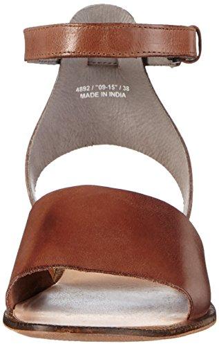 H ShoesFIFA - Sandalias de Tacón con Cierre Al Tobillo Mujer Marrón - Braun (Tan)