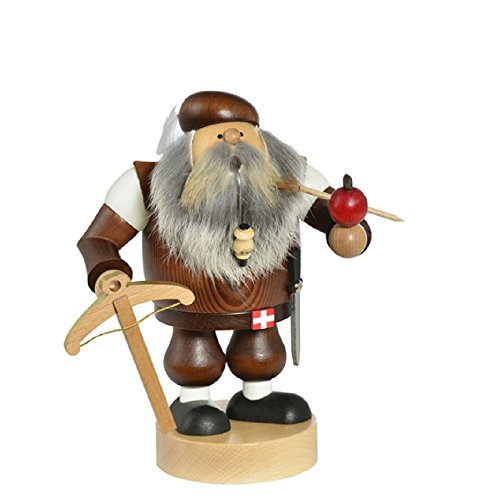 KWO Chubby William Tell with Crossbow German Wood Christmas Incense Smoker Swiss by KWO