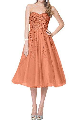 A Partykleider Ballkleider Braut Wadenlang Linie La Festlichkleider Orange Tanzenkleider mia Kurzes Abendkleider Lang 2018 Neu 0AqzRA
