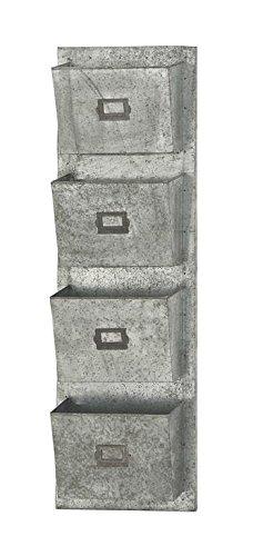 """Deco 79 49108 Metal Galvaniz Wall Pocket 15""""W, 45""""H - -  UMA Enterprises"""