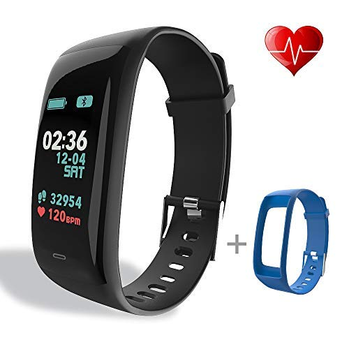 beitony Fitness Tracker, Color Screen Activity Tracker with Heart Rate Monitor Watch, IP67 Waterproof Fitness Watch with Calorie Counter Pedometer Sleep Blood Pressure Monitor for Kids Women Men