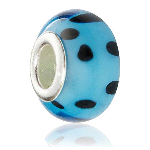 1 x Hidden Gems argenté charme européen perle