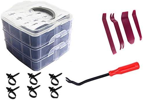 625 pz 16 Dimensioni rivetti plastica Rivetti Clip Set Clip di fissaggio Rivetto Clip con dispositivo di rimozione per Interni Auto Pannello Paraurti Porta Gafild Rivetti in Plastica per Auto