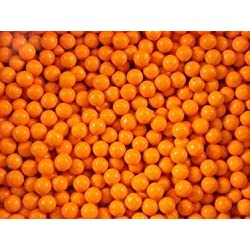 FirstChoiceCandy Sixlets Milk Chocolate Balls (Orange, 2 LB)