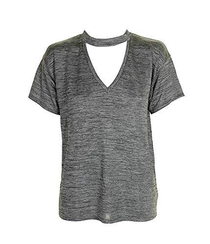 RACHEL Rachel Roy Womens V-Neck Textured Choker T-Shirt for sale  Delivered anywhere in USA