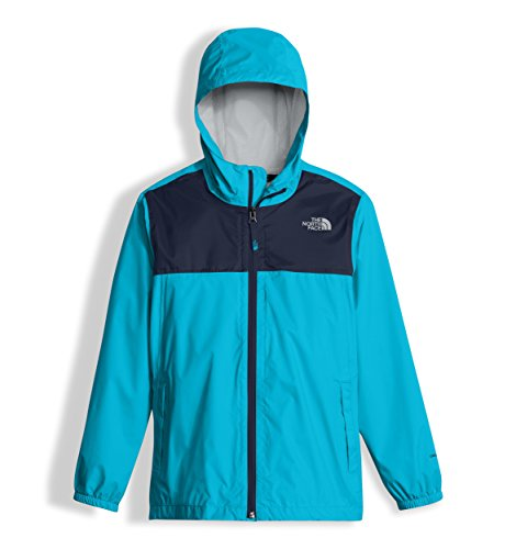 The North Face Boy's Zipline Rain Jacket - Turquoise Blue - L